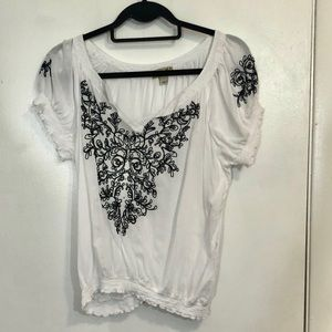 One World Embroidered Blouse